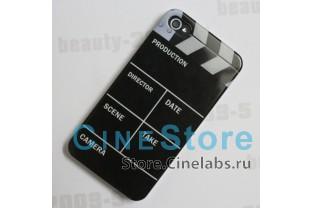 Чехол пластиковый для iPhone 4G 4S хлопушка для кино