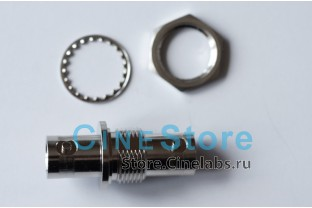 BNC коннектор проходной на панель, female-female