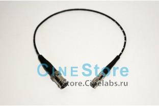 кабель 2,5мм переходник SDI mini BNC на BNC Female 0,3m